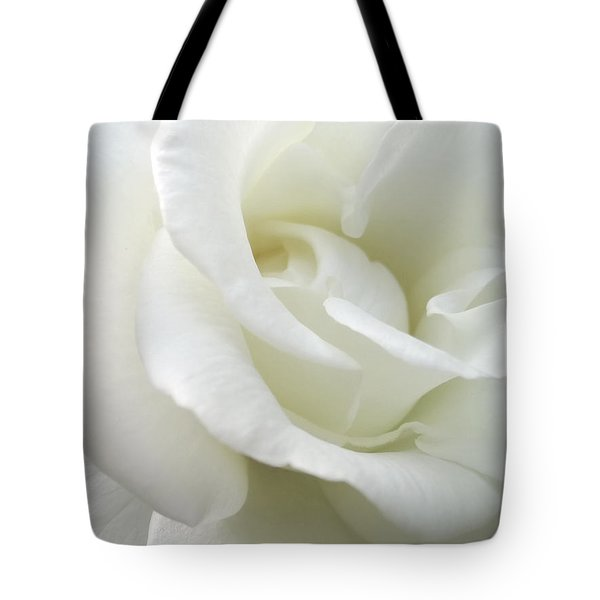 White Rose Angel Wings Tote Bag by Jennie Marie Schell