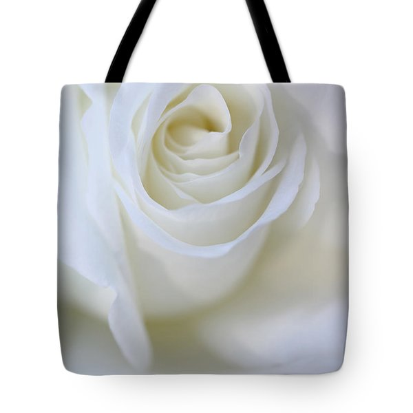 White Rose Floral Whispers Tote Bag by Jennie Marie Schell