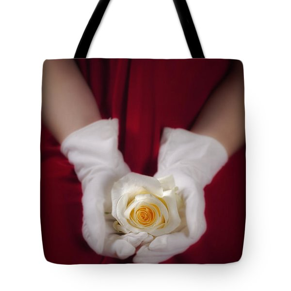 White Rose Tote Bag by Joana Kruse