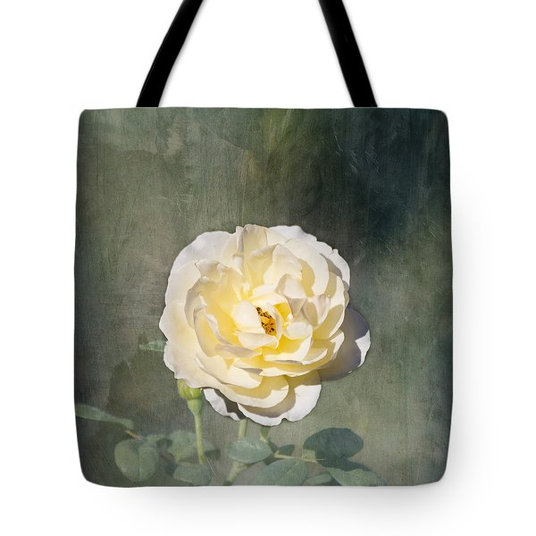 White Rose Tote Bag by Kim Hojnacki