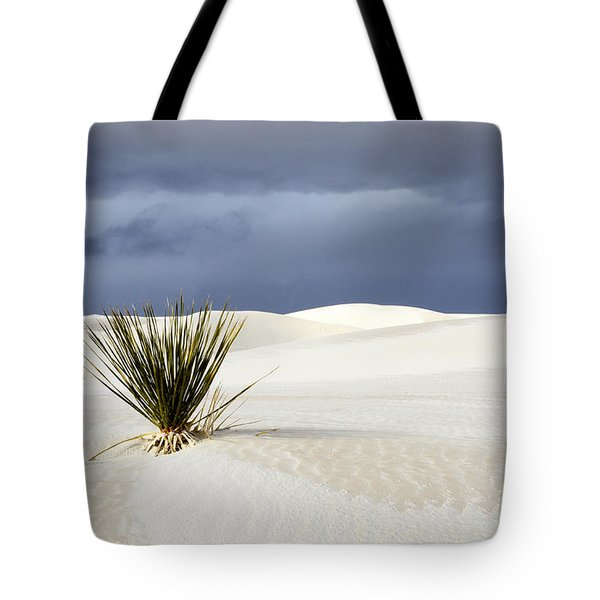 White Sands Dark Sky Tote Bag by Bob Christopher