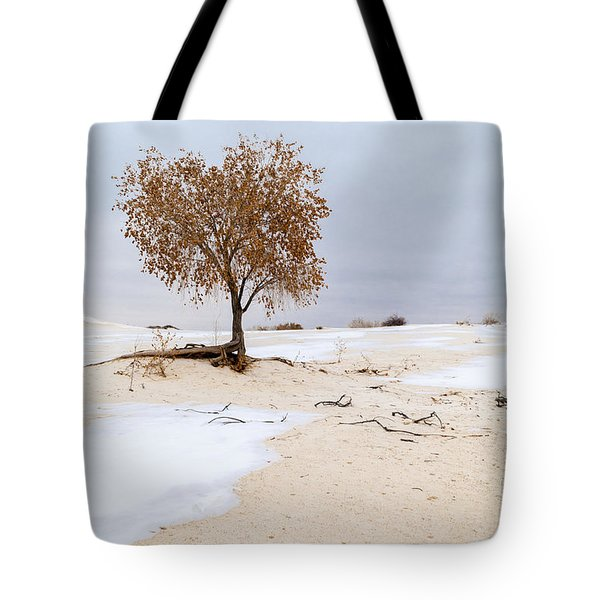 White Sands Lone Tree Tote Bag by Brian Harig