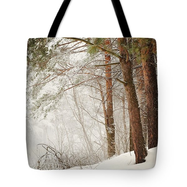 White Silence Tote Bag by Jenny Rainbow