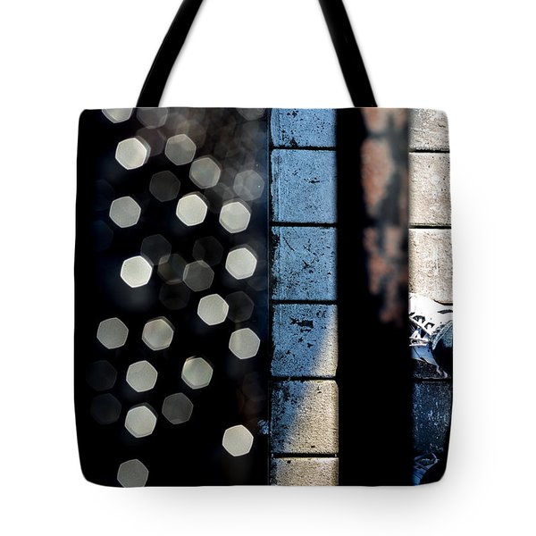White Sneakers On The Edge Tote Bag by Bob Orsillo