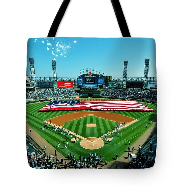 White Sox Opening Day Tote Bag by Benjamin Yeager