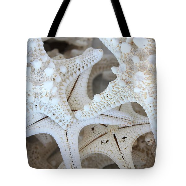 White Starfish Tote Bag by Carol Groenen