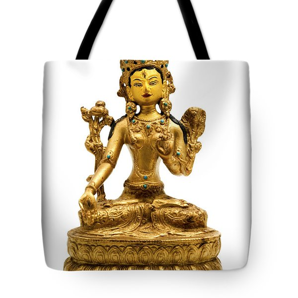 White Tara Tote Bag by Fabrizio Troiani