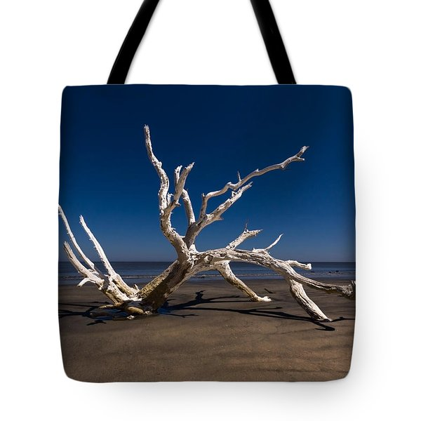 White Tree Tote Bag by Debra and Dave Vanderlaan