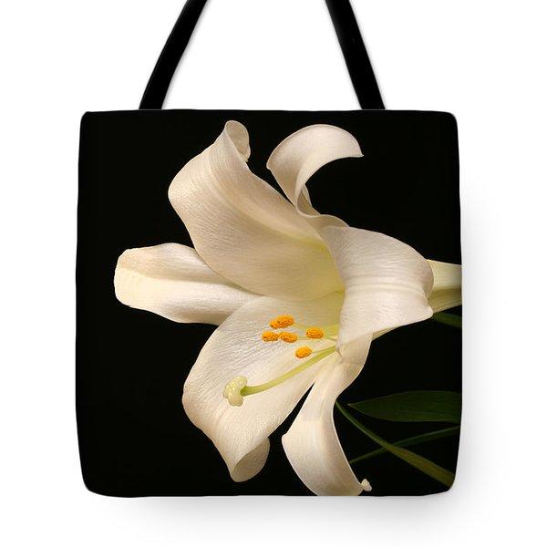 White Trumpet Tote Bag by Doug Norkum