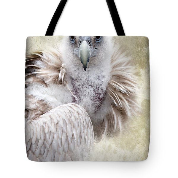 White Vulture  Tote Bag by Barbara Orenya