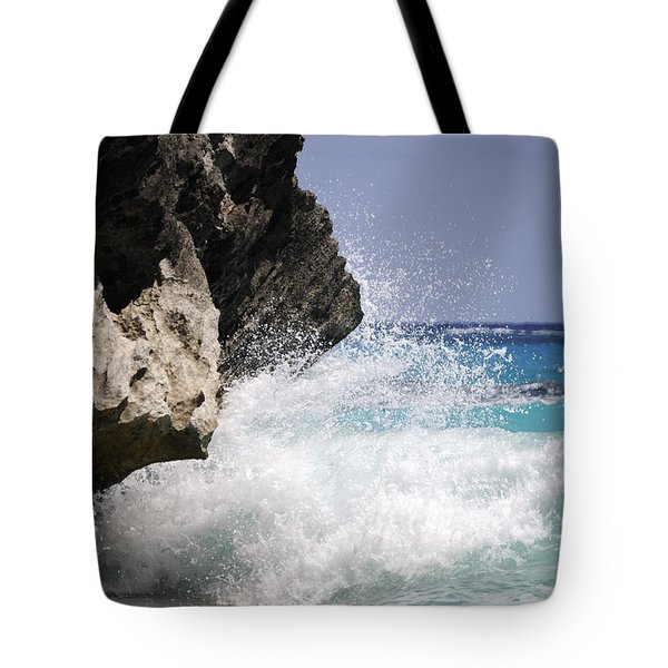 White Water Paradise Tote Bag by Luke Moore