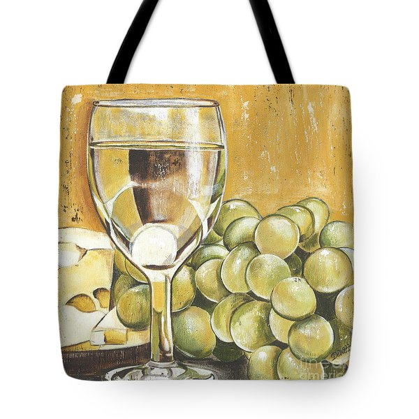 White Wine And Cheese Tote Bag by Debbie DeWitt