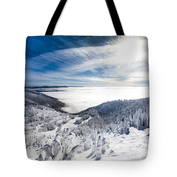 Whitefish Inversion Tote Bag by Aaron Aldrich