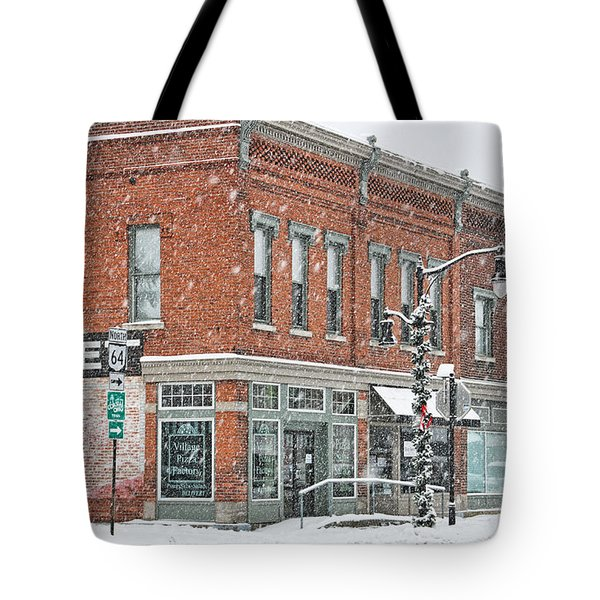 Whitehouse Ohio In Snow 7032 Tote Bag by Jack Schultz