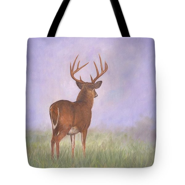 Whitetail Tote Bag by David Stribbling
