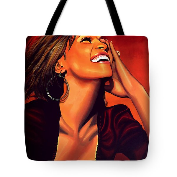 Whitney Houston Tote Bag by Paul Meijering