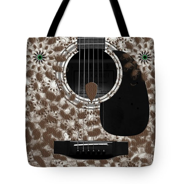 Who Are You - Owl Abstract Guitar Tote Bag by Andee Design