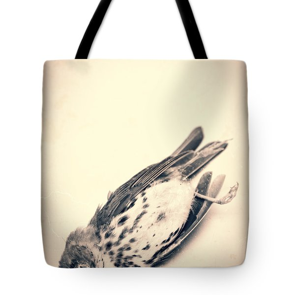 Who Killed Cock Robin Tote Bag by Edward Fielding