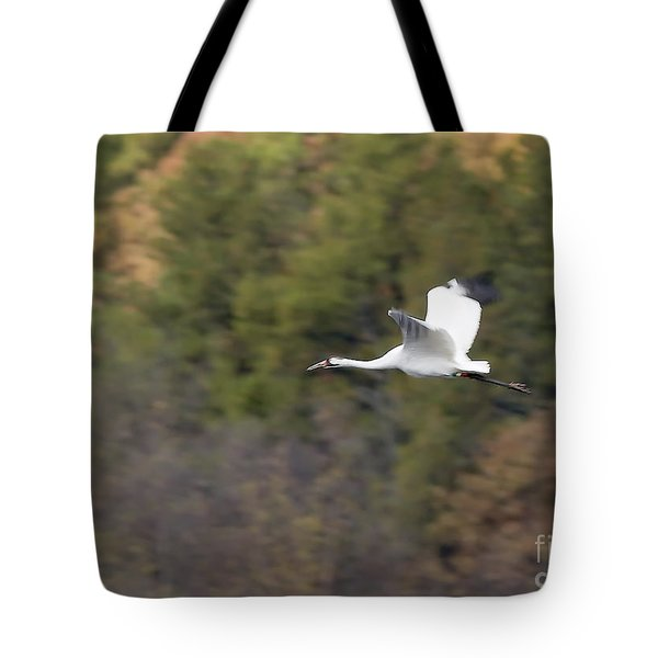 Whooping Crane Tote Bag by Steven Ralser