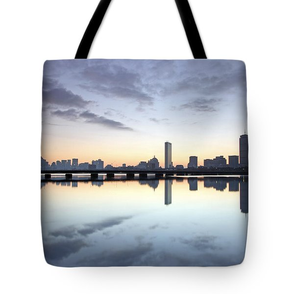 Why So Quiet Boston Tote Bag by Juergen Roth