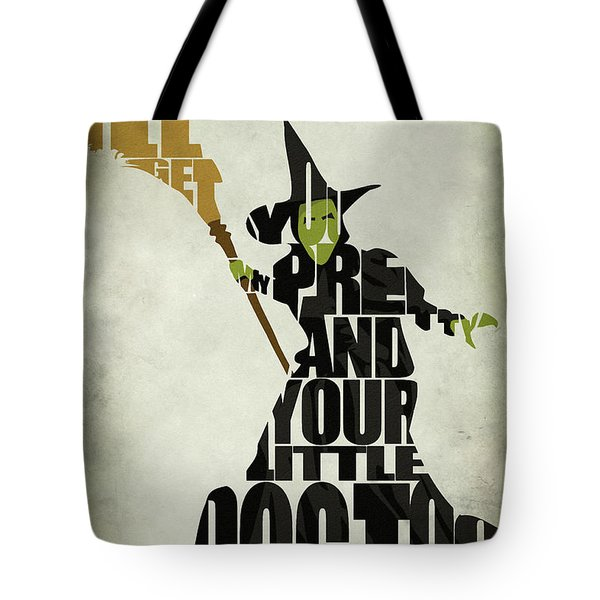 Wicked Witch of the West Tote Bag by Ayse Deniz