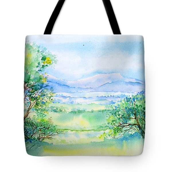 Wicklow Landscape In Summer Tote Bag by Trudi Doyle