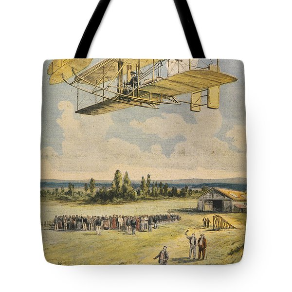 Wilbur Wright Airborne Tote Bag by Mary Evans Picture Library