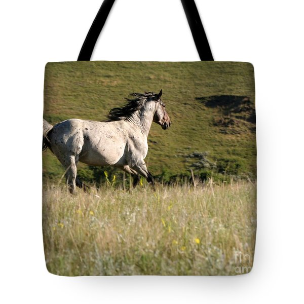Wild Appaloosa Running away Tote Bag by Sabrina L Ryan