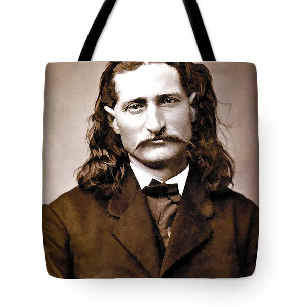 WILD BILL HICKOK PAINTERLY Tote Bag by Daniel Hagerman