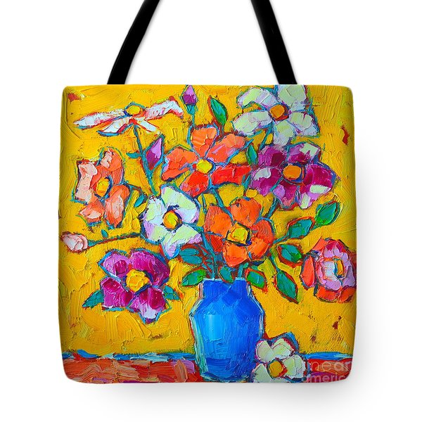 Wild Colorful Roses Tote Bag by Ana Maria Edulescu