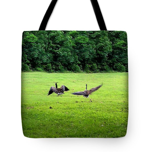 Wild Goose Chase Tote Bag by Kristin Elmquist