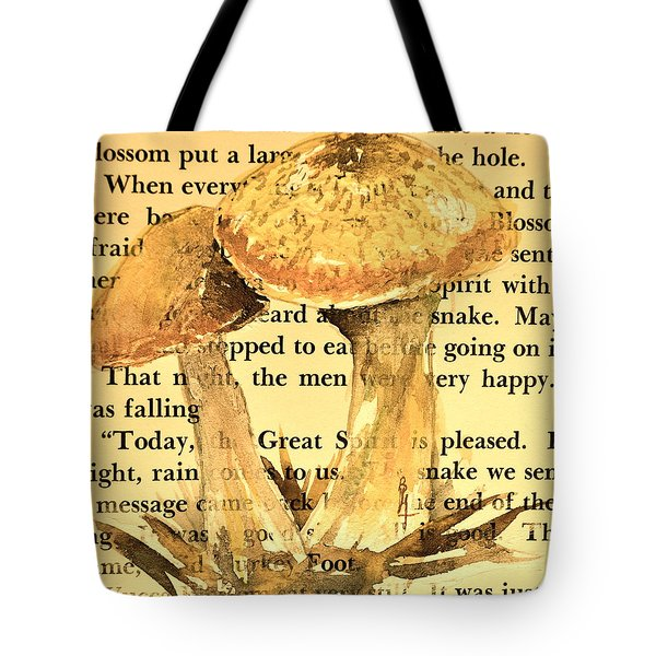 Wild Mushrooms Warm And Subtle Tote Bag by Beverley Harper Tinsley
