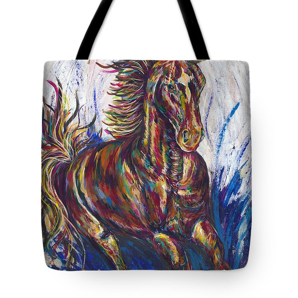 Wild Mustang Tote Bag by Lovejoy Creations