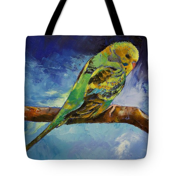 Wild Parakeet Tote Bag by Michael Creese