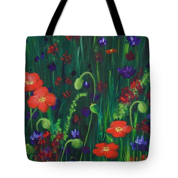Wild Poppies Tote Bag by Anastasiya Malakhova