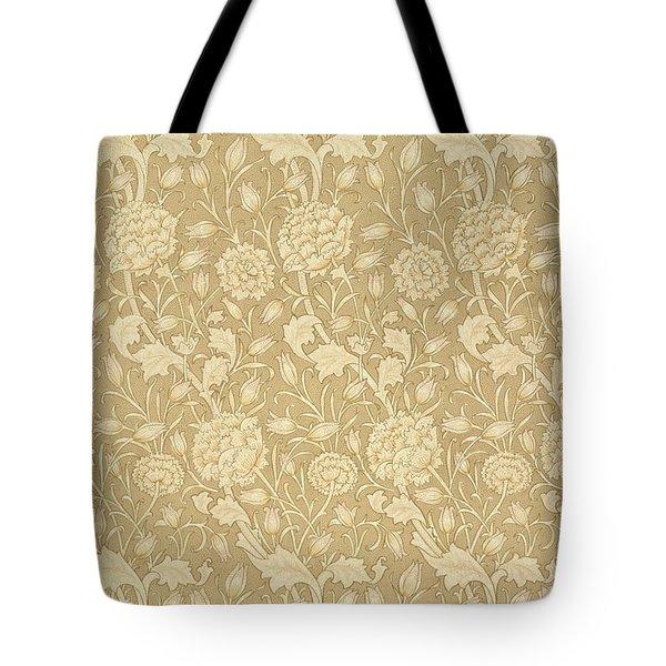 Wild Tulip Wallpaper Design Tote Bag by William Morris