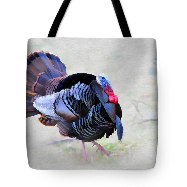 Wild Turkey Artistic Tote Bag by Dan Friend