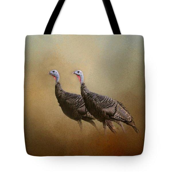 Wild Turkey At Shiloh Tote Bag by Jai Johnson