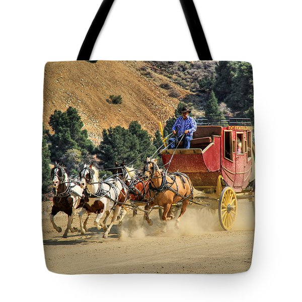 Wild West Ride 2 Tote Bag by Donna Kennedy