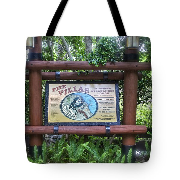 Wilderness Lodge Sign Tote Bag by Thomas Woolworth
