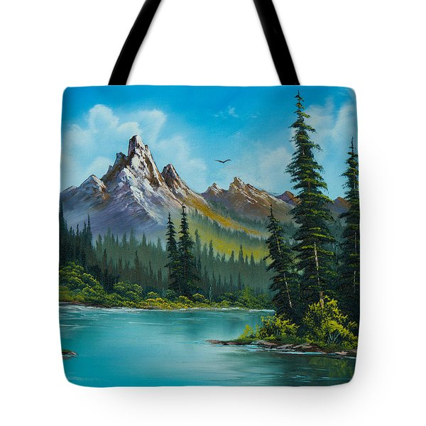 Wilderness Waterfall Tote Bag by C Steele