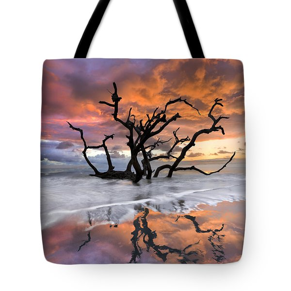 Wildfire Tote Bag by Debra and Dave Vanderlaan