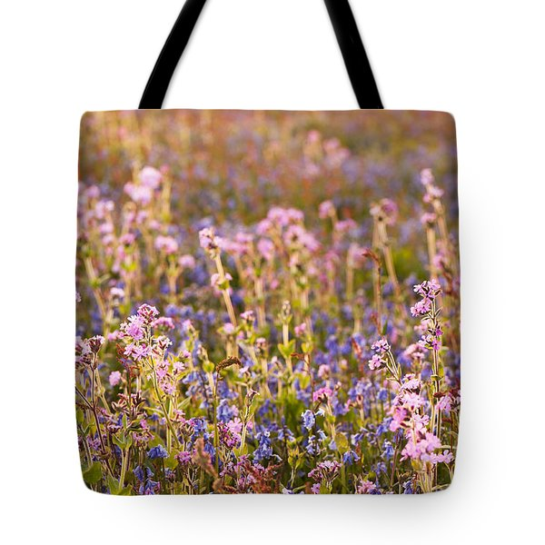 Wildflower Dusk Tote Bag by Anne Gilbert