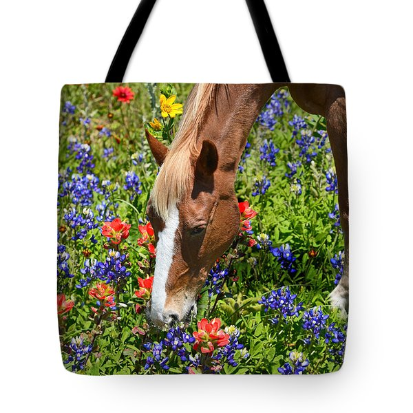 Wildflower Feast Tote Bag by Lynn Bauer