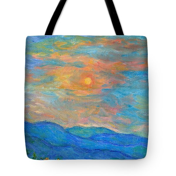 Wildflowers By A Blue Ridge Sunset Tote Bag by Kendall Kessler