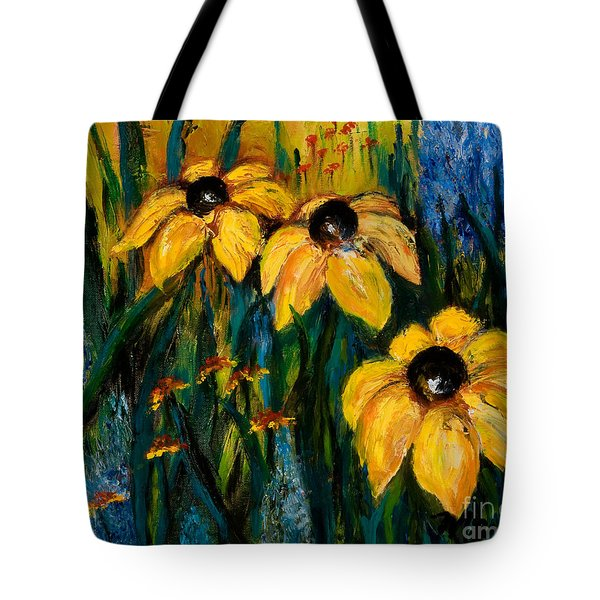 Wildflowers Tote Bag by Larry Martin