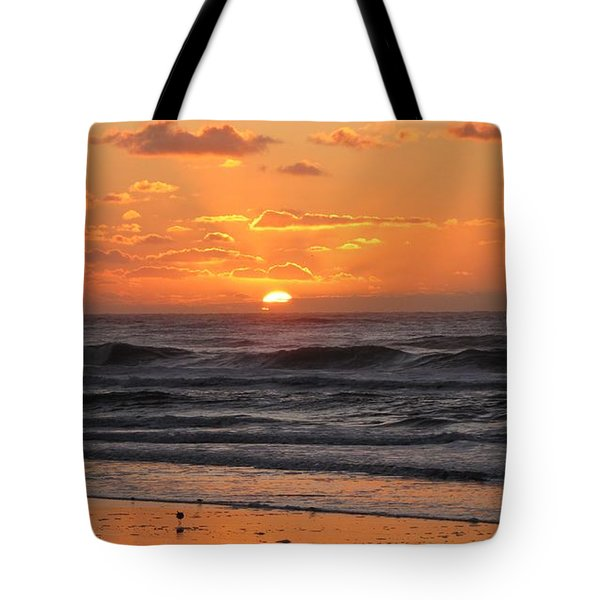 Wildwood Beach Here Comes The Sun Tote Bag by David Dehner