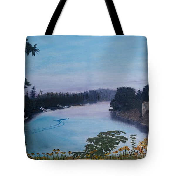 Willamette River Oregon Tote Bag by Ian Donley