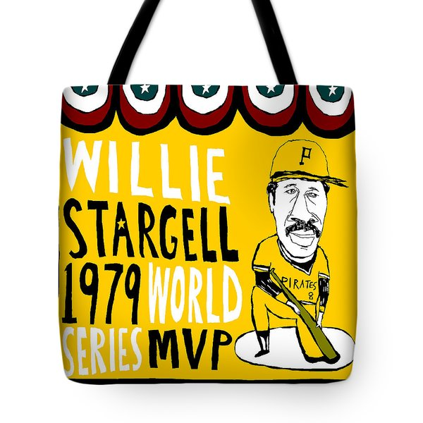 willie stargell pittsburgh pirates Tote Bag by Jay Perkins