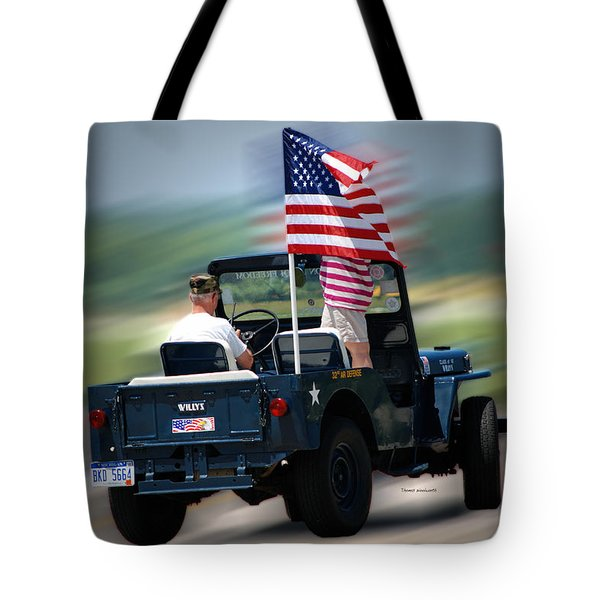 Willy Jeep From The 32nd Air Defense Tote Bag by Thomas Woolworth
